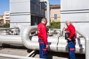 trattamento anti legionella in un impianto di raffreddamento